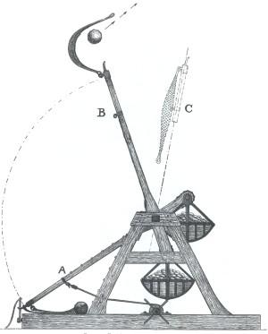 Středověký trebuchet