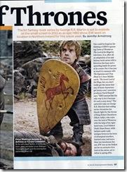 Tyrion Lannister se brání (štít rodu Brackenů)