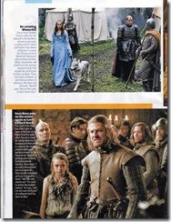Sansa a Lady, Sean Bean, Arya, Illyn Payne, Jorry Cassel - scéna na hradu Darry byla přesunuta do hostince na křižovatce.