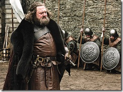 Král Robert Baratheon na Zimohradě.